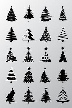 New Tree Icon Vector Christmas Ideas Christmas Doodles, Christmas Art, All Things Christmas, Christmas Holidays, Vector Christmas, Christmas Ornaments, Christmas Tree Graphic, Christmas Ideas, Christmas Tables