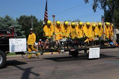 I was at a 4th of July parade in Lennox, South Dakota this morning and was very happy to see tribute paid to the fallen firefighters during a pretty long stretch of firefighter unit vehicles from the rural areas. -AJ Olson