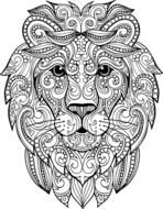 Find Hand Drawn Doodle Zentangle Lion Illustration stock images in HD and millions of other royalty-free stock photos, illustrations and vectors in the Shutterstock collection. Lion Coloring Pages, Coloring Books, Lion Head Drawing, Diy Art Projects, Mandala Drawing, Doodle Art, Book Art, How To Draw Hands, Sketches