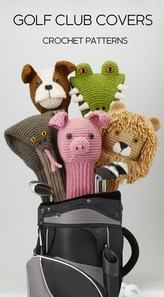 Amigurumi Golf Club Covers: A book of 25 Crochet Patterns for Animal Golf Club Covers by Linda Wright.