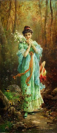 Hans Zatzka Edelweiss La Foret print for sale. Shop for Hans Zatzka Edelweiss La Foret painting and frame at discount price, ships in 24 hours. Cheap price prints end soon. Classic Art, Art Painting, Fine Art, Amazing Art, Victorian Art, Painting, Female Art, Beautiful Paintings, Art