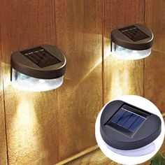 6 X Solar Power Powered Door Fence Wall Lights LED Outdoor Garden Shed Lighting for sale online Solar Powered Lights, Solar Lights, Hanging Lights, Wall Lights, Fence Lighting, Outdoor Lighting, Outdoor Garden Sheds, Mason Jar Lighting, Pretty Lights