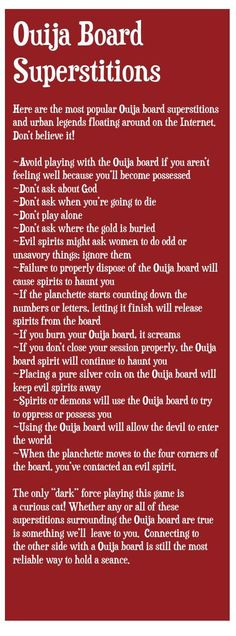 Ouija Board Superstitions #ClippedOnIssuu from Psychic Guidepost Fall 2014