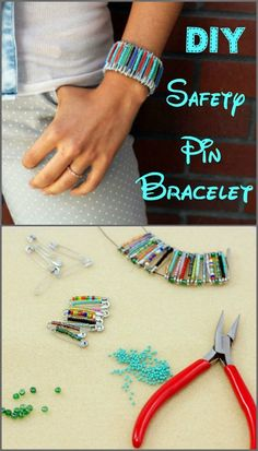 Cool DIY Accesory: Safety Pin Bracelet - these can be very elegant depending on the beads you use!