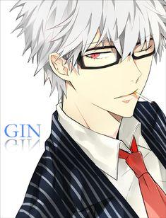 grafika anime, gintama, and manga Anime Sexy, Hot Anime Boy, Boys Anime, Cute Anime Guys, Manga Boy, Rin Okumura, Anime Style, Guys With White Hair, White Hair Anime Guy