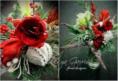 Олеся Гавриш - свадебная флористика и декор - Зимний, новогодний подарочный букет на каркасе в форме звезды.