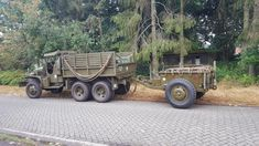 Dream team,cckw352+M10 trailer Us Army Trucks, Old Trucks, Dodge Power Wagon, Military Equipment, Dream Team, Jeeps, Scale Models, Military Vehicles, Chevrolet