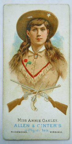 The Metropolitan Museum of Art - Miss Annie Oakley, Rifle Shooter, from World's Champions, Series 1 for Allen & Ginter Cigarettes Vintage Cowgirl, Cowboy And Cowgirl, Buffalo Bills, Vintage Advertisements, Vintage Ads, Annie Oakley, Into The West, Le Far West, Western Art
