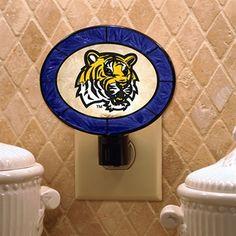 LSU Tigers Art Glass Night Light