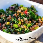 Quinoa, Kale and Edamame Super-Food Bowl | Only 157 Calories | Easy & Nutrient-packed | For MORE Nutrition & Fitness Tips & RECIPES please SIGN UP for our FREE NEWSLETTER www.NutritionTwins.com