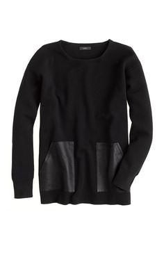 Merino leather pocket sweater. Need.