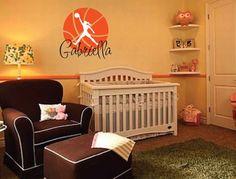 Gabriella Basketball Wall Decal Personalized Room Wall Art Custom Name Vinyl