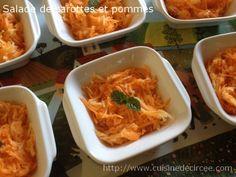 Salade de carottes et pommes, vinaigrette au citron et miel - Cuisine de Circée
