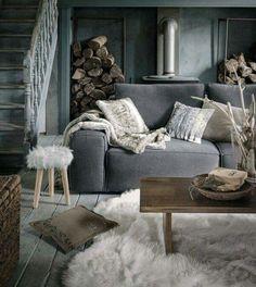 Deco Montagne, Chalet Montagne, Decoration Cocooning, Déco Salon Cocooning,  Deco Hiver, 2f967808fa92