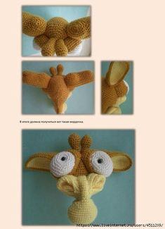 139031834_Zhiraf_Georgiy_23 (481x664, 107Kb) Crochet Doily Patterns, Crochet Doilies, Handmade Toys, Crochet Toys, Crochet Projects, Creepy, Art Drawings, Dolls, Giraffe Illustration