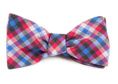STEEL CHECKS BOW TIES - APPLE RED | Ties, Bow Ties, and Pocket Squares | The Tie Bar