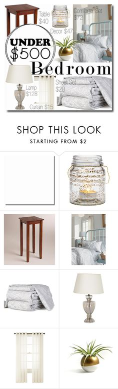 """""""$330 Bedroom Makeover"""" by elzykizer ❤ liked on Polyvore featuring interior, interiors, interior design, home, home decor, interior decorating, Cultural Intrigue, Cost Plus World Market, Threshold and KNS"""