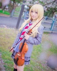 Anime : Your Lie in April Character : Kaori Miyazono Coser : Katyzyx - . Anime : Your Lie in April Character : Kaori Miyazono Coser : Katyzyx - Top Cosplay, Cute Cosplay, Amazing Cosplay, Cosplay Outfits, Best Cosplay, Cosplay Girls, Cosplay Ideas, Kawaii Cosplay, Cosplay Anime