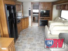 Used 2014 Thor Motor Coach Challenger 37DT Class A Motorhome RV Fireplace Interior