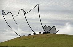 """Horizons"" by Neil Dawson s not a cartoon Kleenex.   @ http://www.neildawson.co.nz/"