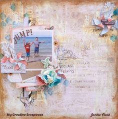 Scraps Of Brilliance: My Creative Scrapbook August Limited Edition Kit 2016 Blue Fern Studios' Attic Charm collection