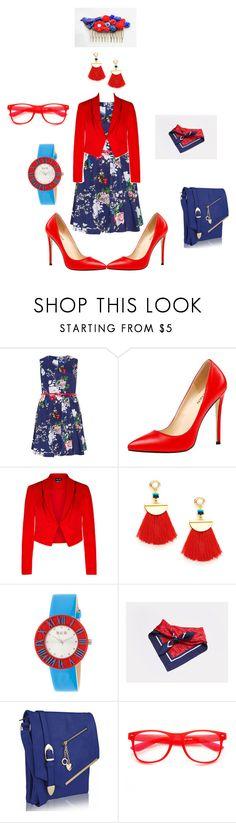 """red & blue"" by ilona-giladi on Polyvore featuring мода, Samya, City Chic, Crayo, Finery London, ZeroUV и plus size dresses"