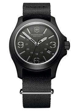 Victorinox Swiss Army® 'Original' 40mm Nylon Strap Watch available at #Nordstrom