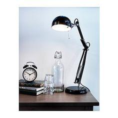 IKEA - FORSÅ, Pracovní lampa, , Poskytuje přímé světlo, které se výborně hodí na čtení.Díky nastavitelnému ramenu lampy a stínidlu snadno nasměrujete světlo tam, kam chcete.