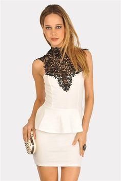 Pin Up Lace Dress - Ivory