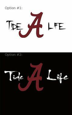 Logo University Of Alabama Crimson Tide White A Red