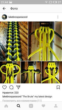Len's Original im Monster Energy Style Paracord Bracelet Designs, Paracord Belt, Paracord Dog Leash, Paracord Projects, Paracord Bracelets, Paracord Ideas, Paracord Weaves, Paracord Braids, Parachute Cord Crafts