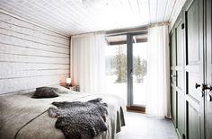 Sovrum i timmerhuset i Bydalen