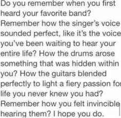 Who is the first band you fell in love with?>>Manson>>>MCR>>>BVB>>>SWS>>>BVB
