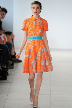 An excellent color palette was used for Jonathan Saunders' Spring 2011 presentation.    Yes to everything. Love the hair, the shoes, the lip...