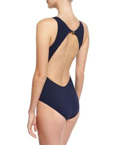 dec9807658 Buy Shan Women's Blue Valentine High-neck Cutout One-piece Swimsuit,  starting at