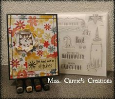 Our CTMH Stamp of the Month for August is Purr-fect Halloween. You can easily make this card using a Florence PML card, our ShinHan markers, and a journalling pen. Order online at www.MissCarrie.ctmh.com