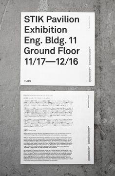 — STIK Pavillon Exhibition / Featured Typography – http://mindsparklemag.com/?sparkles%2Fstik-pavillon-exhibition.html