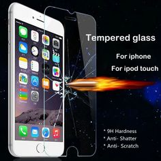 Screen Protector Tempered Glass for iPhone 5 5S SE 6 6S Plus 7 7plus 4 4s for iPod touch 4 5 6 Toughened Glass Protective film #Affiliate
