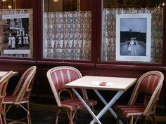 French cafe - table for two.