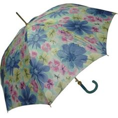 Pasotti Spring Floral Blue Umbrella  This model features a cheery all-over floral print, sure to brighten any rainy day. Push-button automatic opening and manual closing umbrella with a sturdy hexagonal shaped steel shaft and ferrule with acrylic tip. Button-tie closure and curved handle in matching blue rubberized finish, soft to the touch. Made in Italy.    Was: CAD $95.00  Now: CAD $50.00    http://www.raindropsto.com/umbrellas/designer-umbrellas/pasotti-spring-floral-blue-umbrella