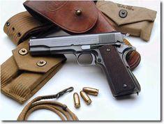 Colt M1911 .45 - Now that's a pistol.