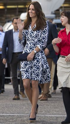 BAM. Kate Middleton Rocks a DVF Wrap Dress in Australia