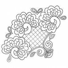 T T pretty corner Border Embroidery Designs, Cutwork Embroidery, Machine Embroidery Patterns, Machine Quilting, Cross Stitch Embroidery, Cross Stitch Patterns, Doodle Patterns, Lace Patterns, Tangle Patterns
