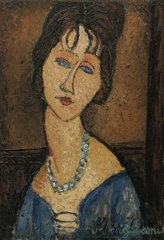 Jeanne Hébuterne au collier (ca. 1916-17) - Amedeo Modigliani