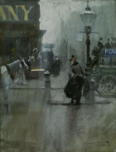 Anders Zorn. i think this was a watercolor, London. His watercolors are…