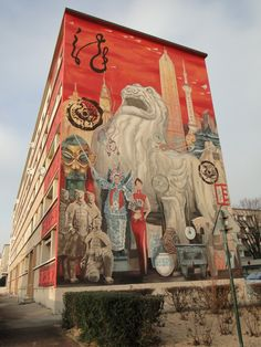 murs peints a lyon france | fresque de Shangaï, 22 boulevard des Etats-Unis, Lyon 8ième
