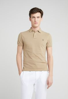 Polo Ralph Lauren Polo shirt - boating khaki for Free delivery for orders over Polo Lauren, Slim Fit Polo Shirts, Ralph Lauren Slim Fit, Boating, Fitness Models, Mens Fashion, Clothing, Mens Tops, T Shirt