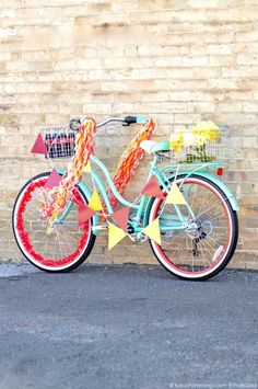 Bike Decorating for a Bicycle Parade by Kara's Party Ideas | Kara Allen for Coca Cola #ThatsGold-2