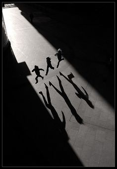 Leap in shadows.