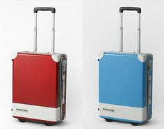 Carry a Pantone suitcase on your travel. For some reason I'm thinking of you @kelly ashworth :)